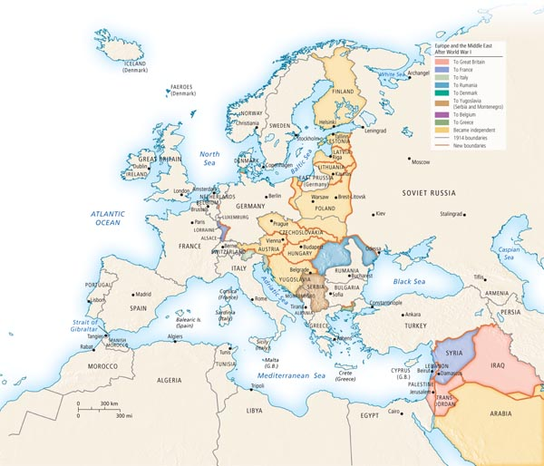 Europe and the Middle East After World War I