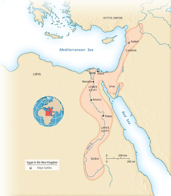 Egypt In The New Kingdom - Map of egypt during the new kingdom