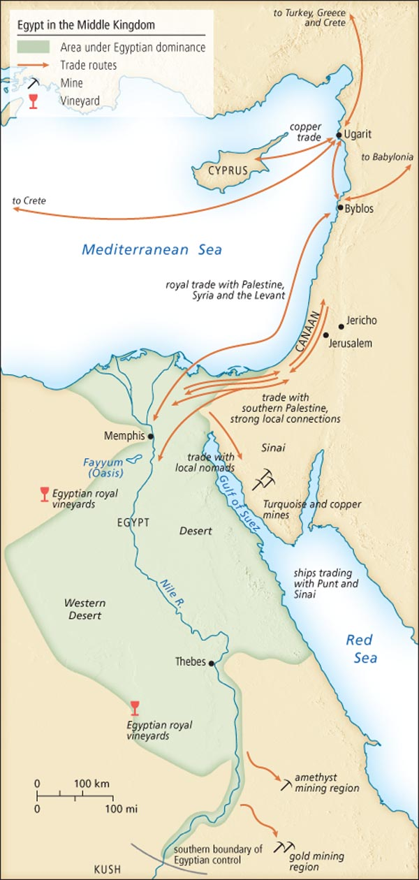 Mapjpg - Map of egypt during the middle kingdom