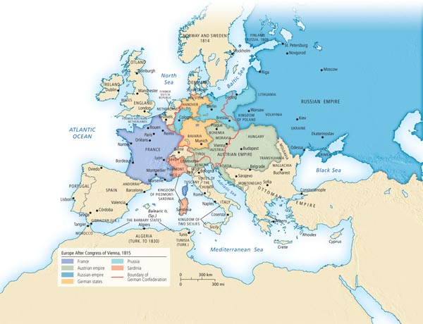 Europe after the congress of vienna 1815 sciox Choice Image