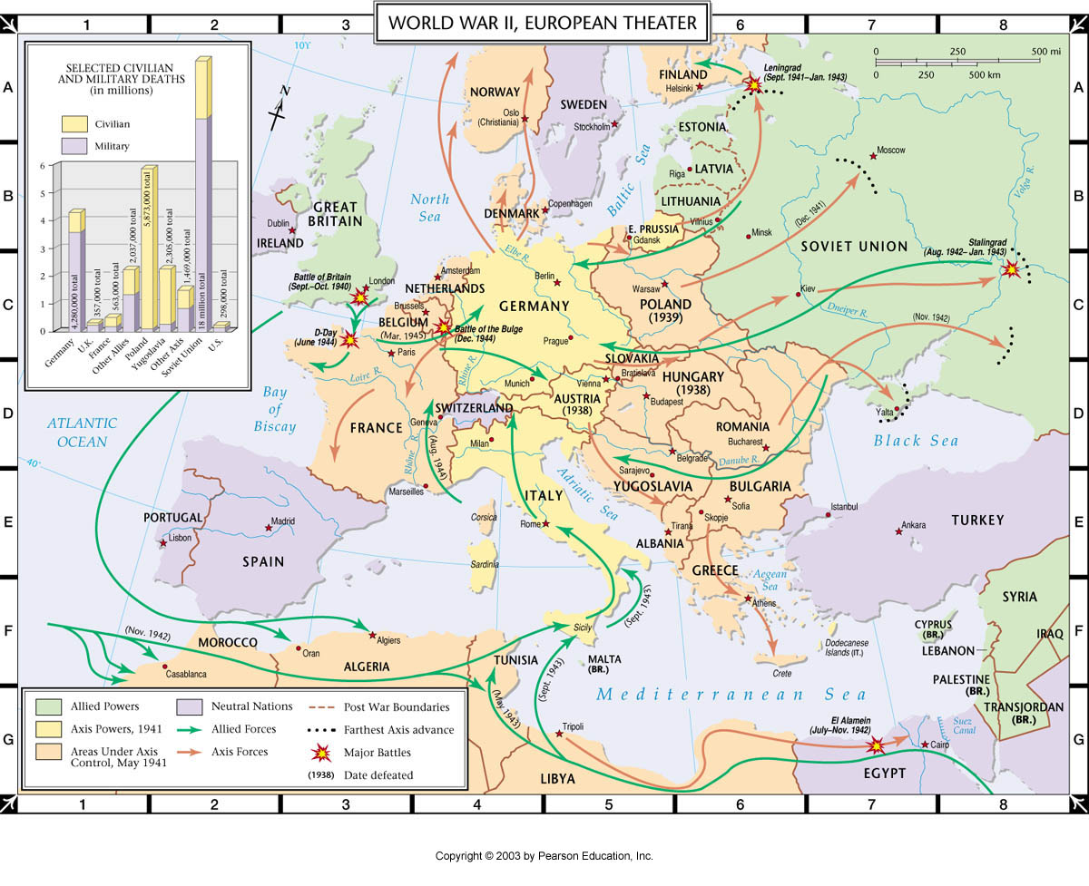 Atlas Map: World War II, European Theater