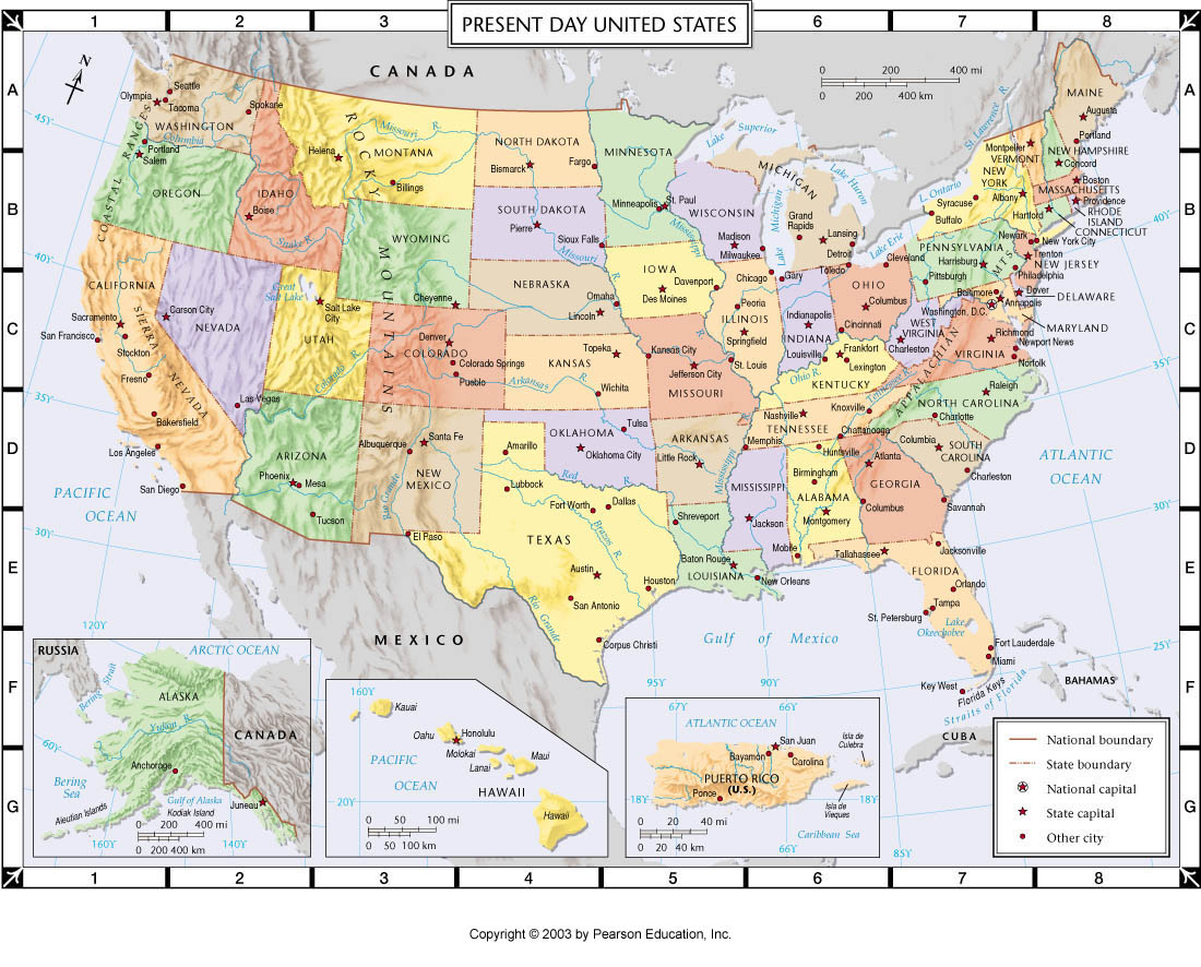 Atlas Map: Present day United States