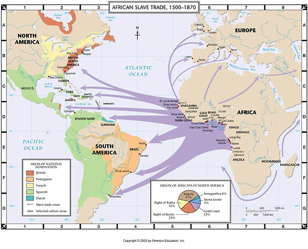 African Slave Trade Map Atlas Map: African Slave Trade, 1500 1870 African Slave Trade Map