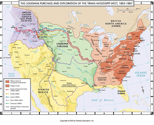 Atlas Map Louisiana Purchase and Exploration of the Trans