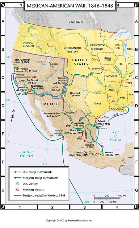 Atlas Map Mexican American War 1846 1848