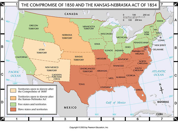 missouri compromise and compromise of 1850 The missouri compromise was an agreement passed in 1820 between the pro-slavery and anti-slavery factions in the united states congress at the time, the united states contained twenty-two states, evenly divided between slave and free.