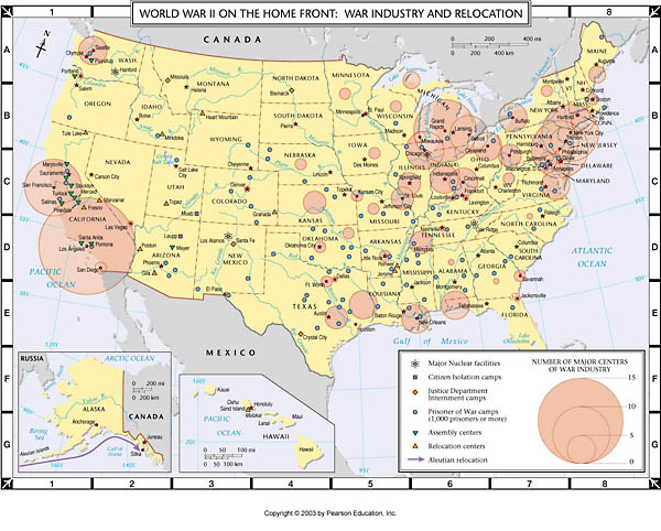 Atlas Map World War Ii On The Home Front War Industry