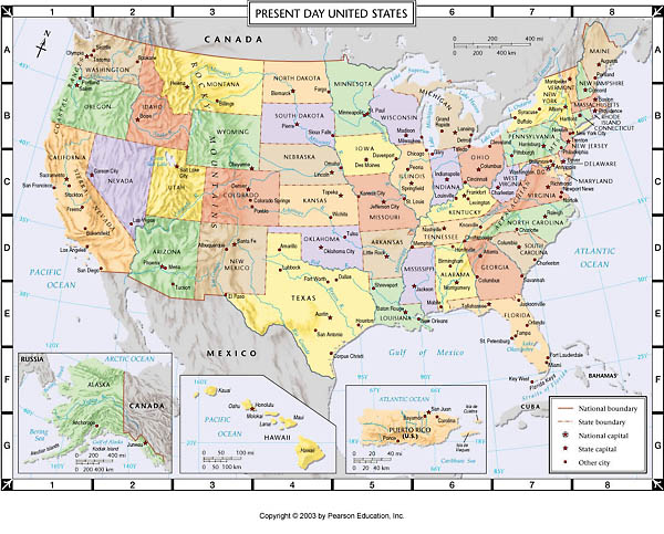 united states map atlas Atlas Map Present Day United States