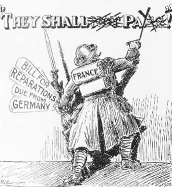 France Demands War Reparations - CartoonReparations
