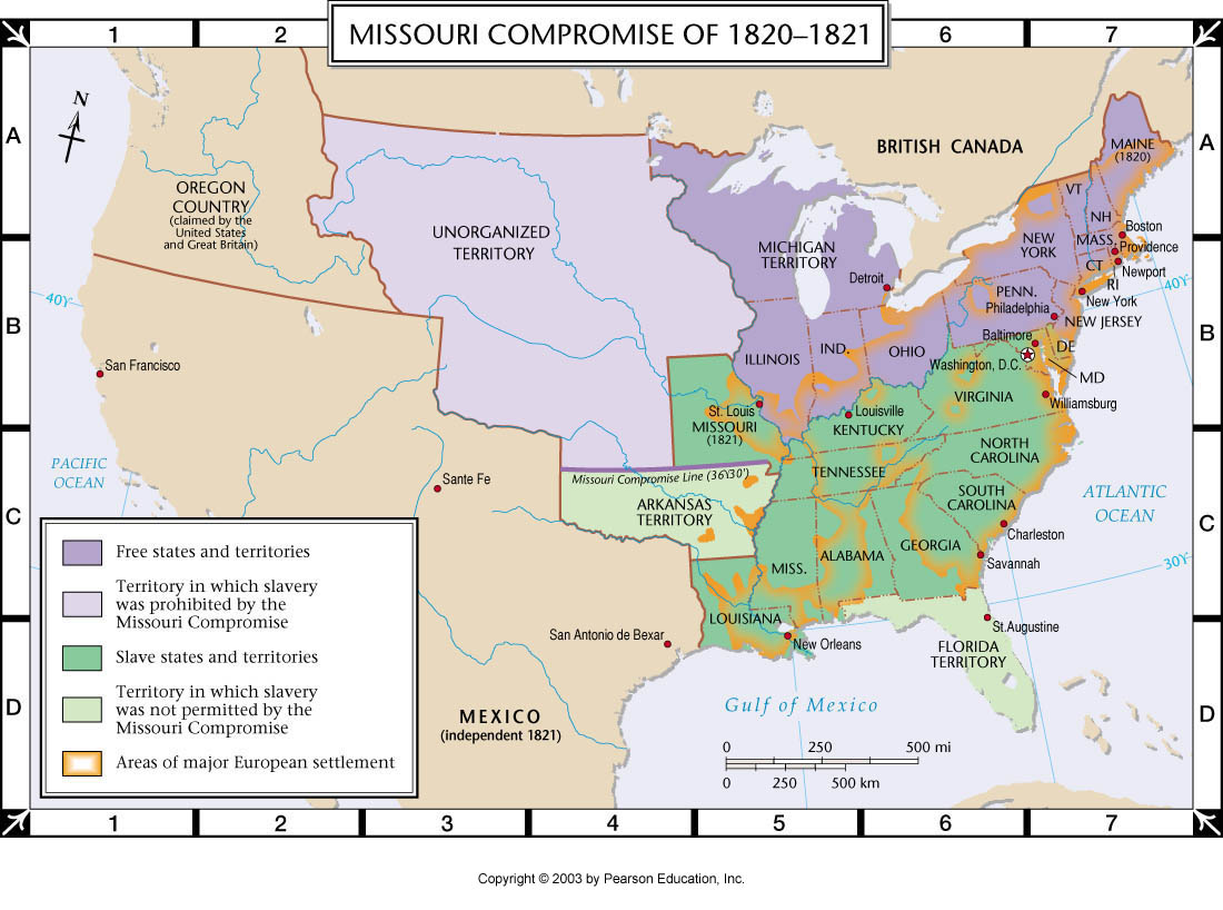 Pearson Georgia Map.Atlas Map Missouri Compromise Of 1820 1821