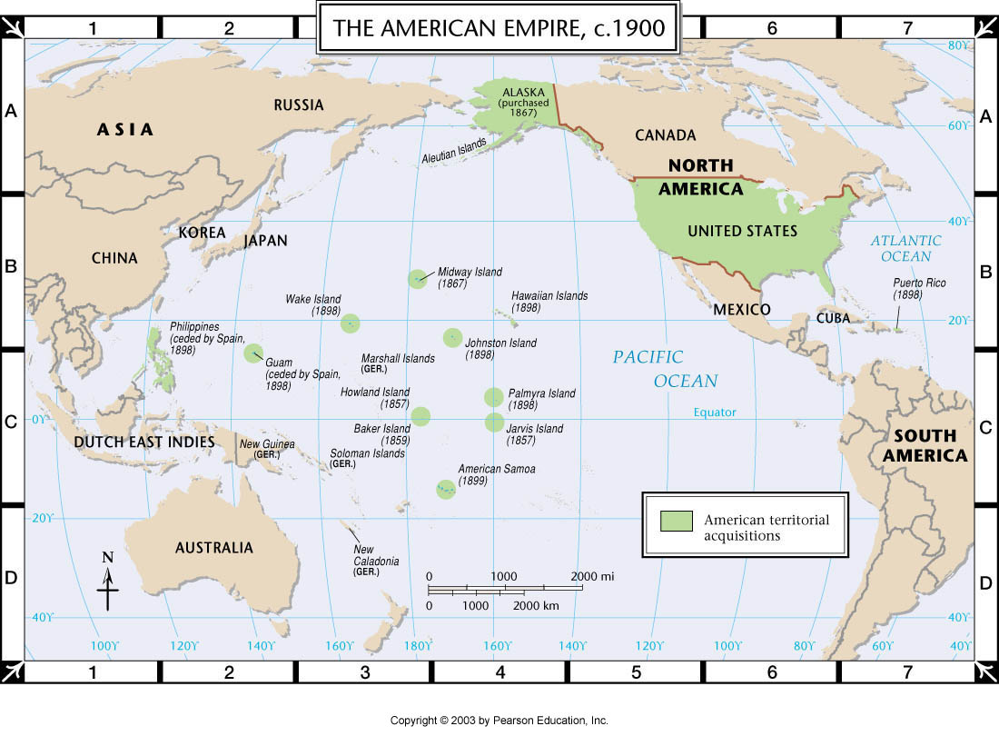 Printables Map Of American Imperialism atlas map the american empire c 1900 through warfare